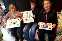 Ellen, Ronald en-Henriette met hun werkstuk